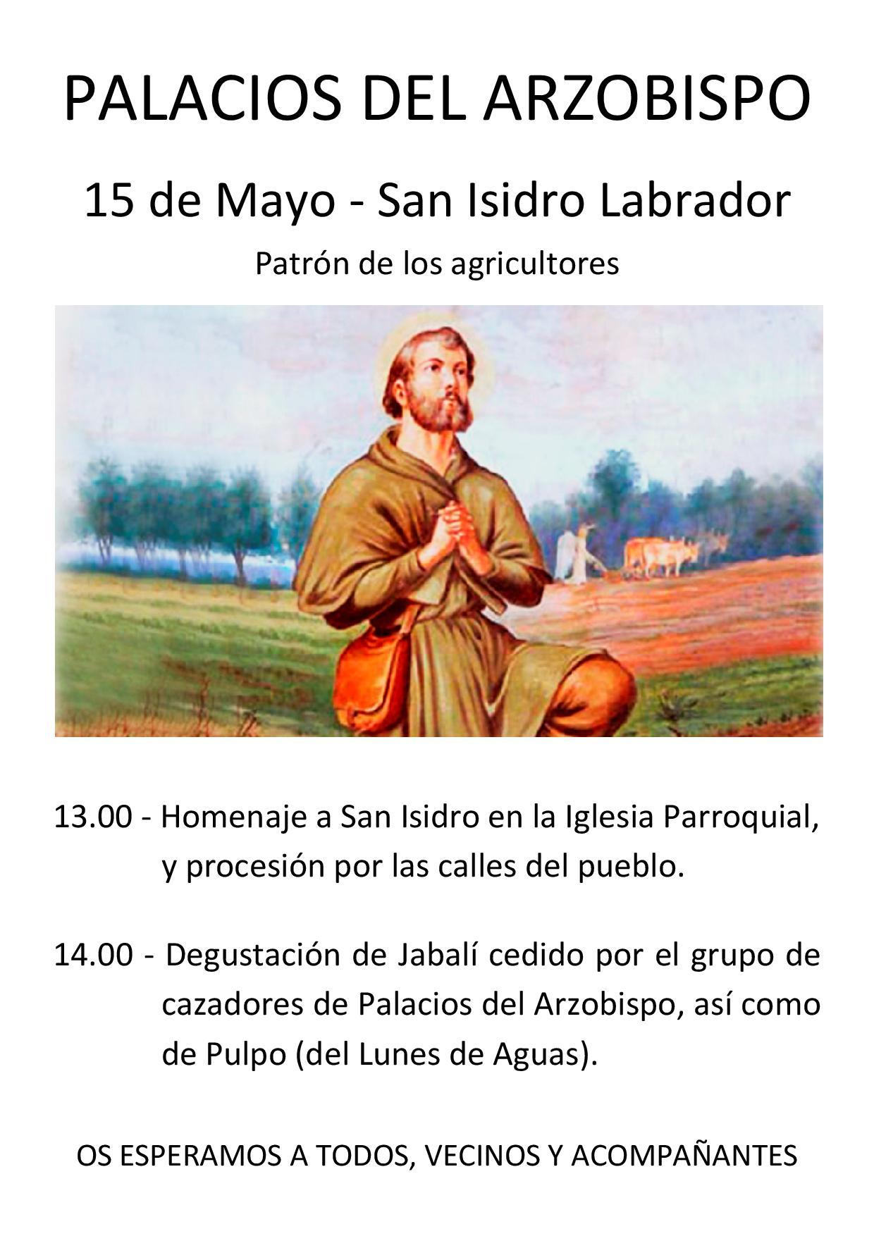 15 de Mayo, San Isidro Labrador.